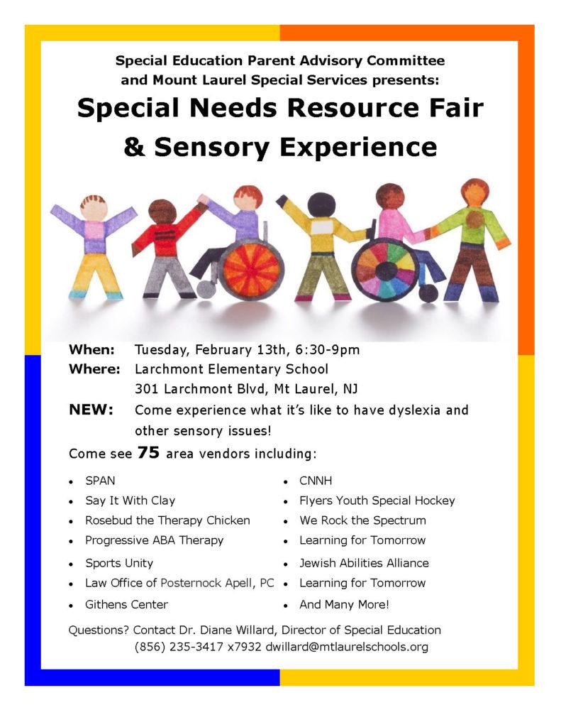 special needs fair flyer